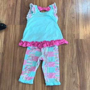 Nannette Matching Sets - Matching capri and tank top owl set